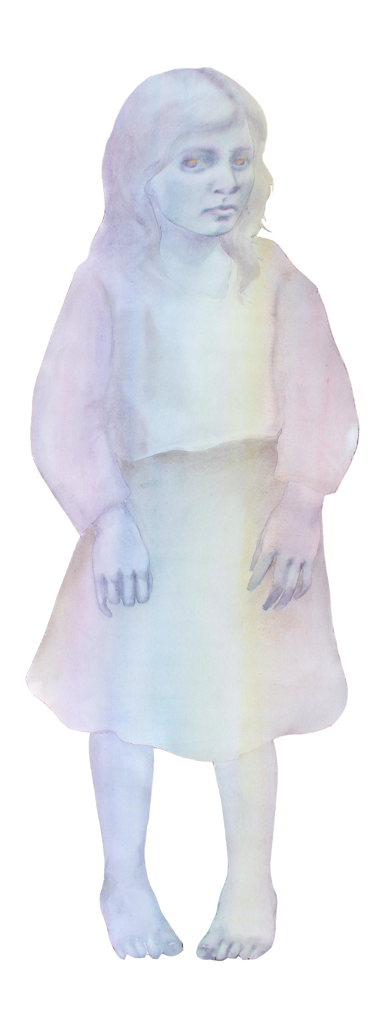 muotoon leikattu akvarelli, 2013