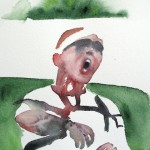 Urheilijakuvia esillä valtakunnallisessa akvarellitaiteen näyttelyssä