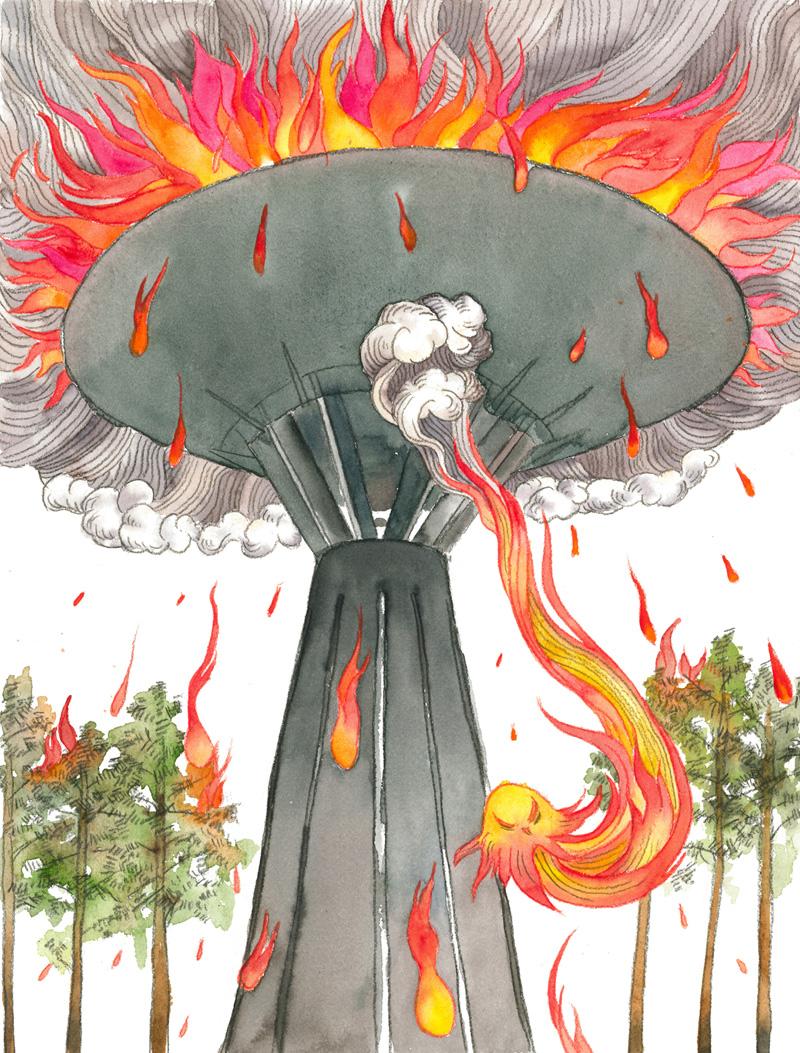 Puolivälinkankaan vesitornista tulee soihtu, The water tower of Puolivälinkangas becomes a torch